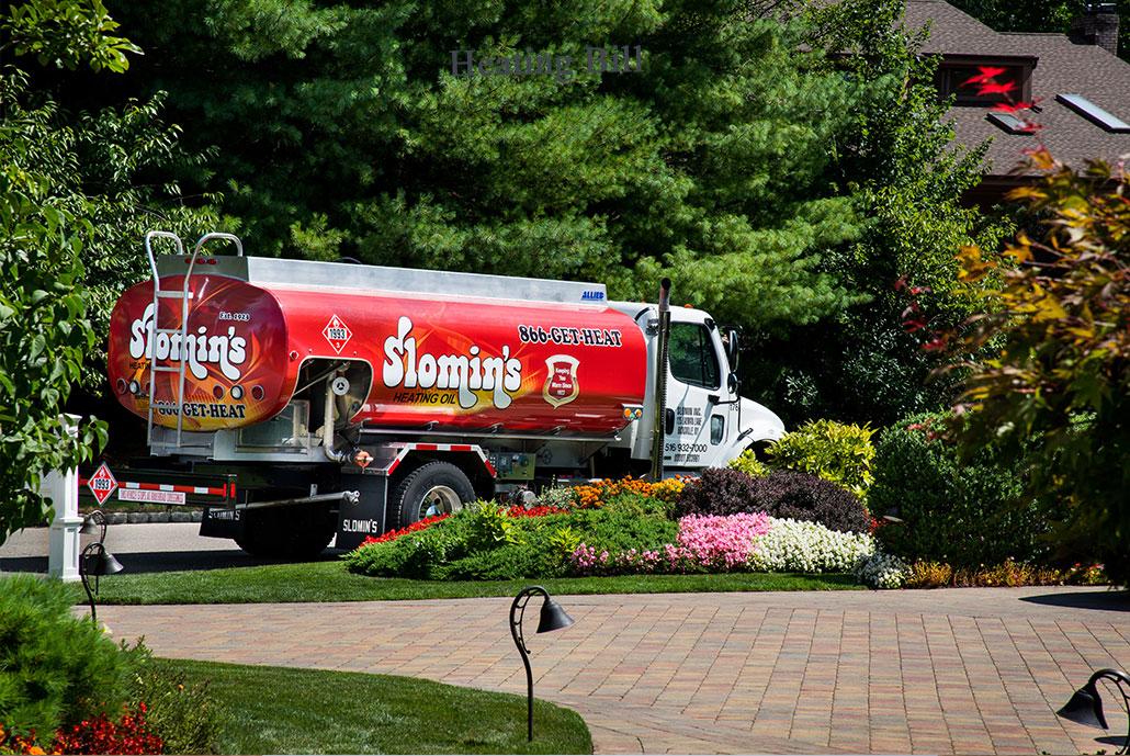 Slomins truck delivering oil