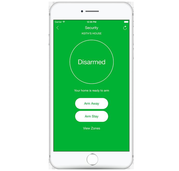 disarm/arm slomins app screenshot
