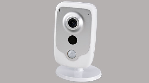 slomins indoor camera on gray box