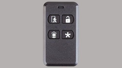 slomins key fob on gray back ground