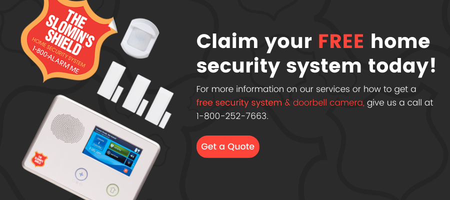 free slomins home security system claim today